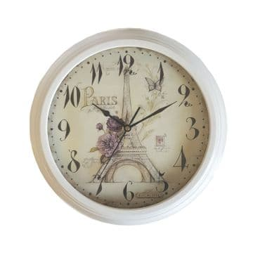 KITCHEN WALL CLOCK - 330mm GARDEN OUTDOOR with CLASSIC VINTAGE  PARIS feature